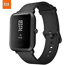 Xiaomi Amazfit Bip Smartwatch Reloj Inteligente Deportivo con GPS Bluetooth Pantalla Táctil Monitor de Ritmo Cardíaco Versión en Inglés Negro