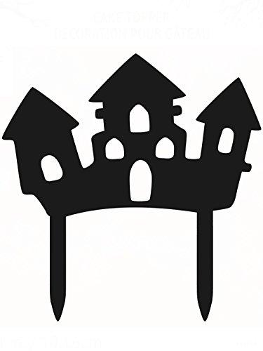 Décoration pour gâteau Maison Hantée Halloween - taille - Taille Unique - 228408