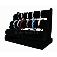 Top Quality Velvet 3 Tier Bangle Watch Bracelet Jewellery Display Stand (G216)