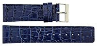 Tellus Blue Genuine Calf Leather Strap Replacement for Men's, Women's Watch, Pin Clasp, 29mm Band _ B29002