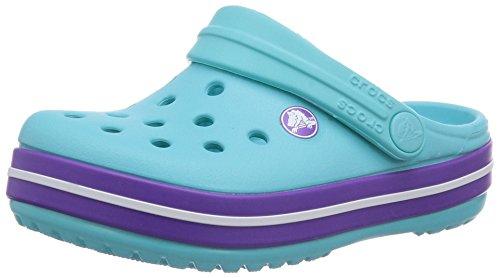 Crocs Crocband Kids, A bout rond mixte enfant Bleu (Pool/Neon Purple)