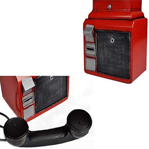 NLQZS-Y American Vintage Industrial Wind Bar Studio Vintage Tel/éfono Modelo Colgante de Pared Colgante de Pared Rojo
