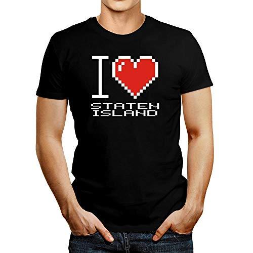 Idakoos I Love Staten Island Pixelated T-Shirt M