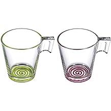 Luminarc Cupissimo - Estuche de 2 tazas, 22 cl, color verde y frambuesa