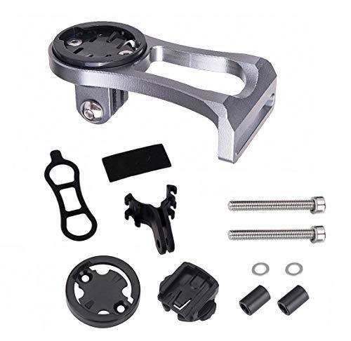 Soporte de Aleación de Aluminio para Ordenador de Bicicleta, Soporte de Extensión de Tallo de Bicicleta...