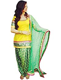 Patiyala Suit For Women Clothing Designer Party Wear Today Offers Low Price Sale Top Yellow Color Pure Cotton...