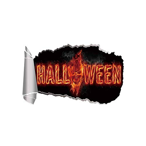 Myspace 2019 Neueste Dekoration für Halloween Kürbis 3D Broken Wandaufkleber Boden Vinyl Removable Decal Home Decor (C)