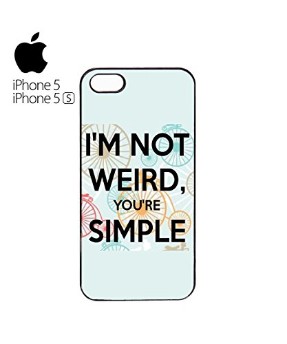 I'm Not Weird You're Simple Normal Cute Rainbow Mobile Phone Case Cover iPhone 6 Plus + White Blanc