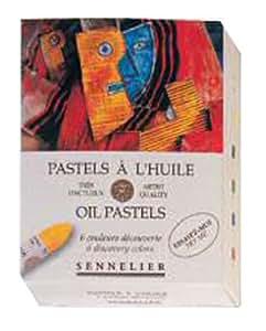 Sennelier 6 Assorted Artists Oil Pastel Box Set