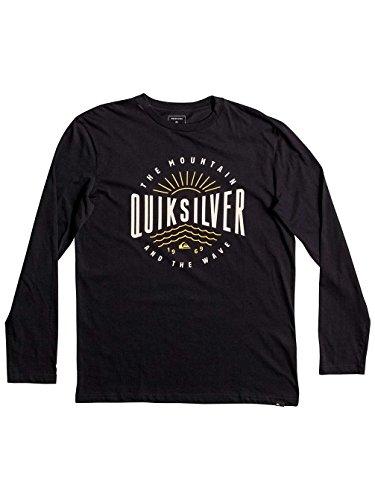 Quiksilver Herren Ls Tee Classic Mad Wave-Long Sleeve T-Shirt Anthracite