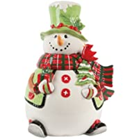 Fitz and Floyd Holly Hat Snowman Cookie Jar by Fitz and Floyd - Whimsy Snowman