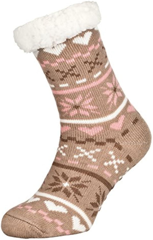Tobeni 1 par Zapatillas de casa para Mujer Calcetines ABS tobilleros con suela antideslizante