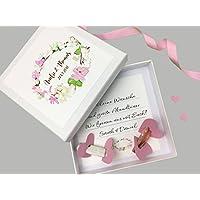 Geldgeschenk zur Hochzeit PERSONALISIERT Blumenkranz Rosa