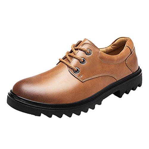 Yiiquan Homme Tête ronde Couleur Unie Mocassins pour PU cuir Loafers confort Chaussures de ville