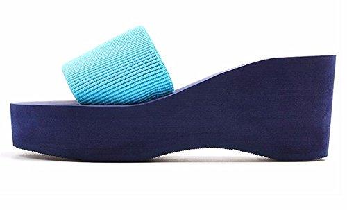 antislittamento tacco pantofole Con suole FLYRCX spesse a spiaggia con ladies estate pantofole alto 6AUxqw0