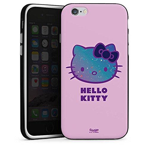Apple iPhone X Silikon Hülle Case Schutzhülle Hello Kitty Merchandise Fanartikel Universe Silikon Case schwarz / weiß