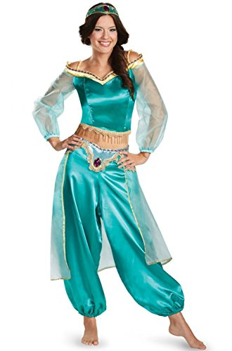 Tianxinshop Damen Aladdin Animated Kostüm-Prinzessin Erwachsene Deluxe Kostüm Frauen ganz Welt Aquamariner
