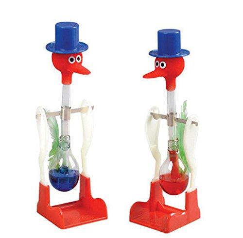 Whyyudan Neuheit-Rotes flüssiges Glas-trinkendes Vogel-Glasspielzeug