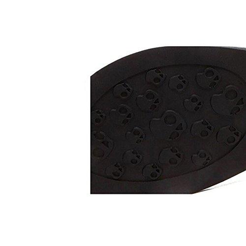 Estate Sandali Sandali femminili piatti Scarpe da moda estiva studenti Scarpe femmina (Beige / Nero) Colore / formato facoltativo Nero