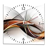 Ramix Glasuhr - Curve - Uhr aus Glas 30x30cm - Glasuhr mit Motiv - Wanduhr aus Glas - modern - Ausgezeichnete Dekoration für Küche, Wohnzimmer und Flur – Dekoration