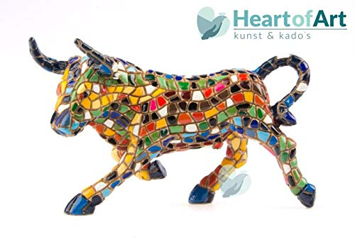 Mosaic Bull Figurine from The Trencadis Collection - 30 cm
