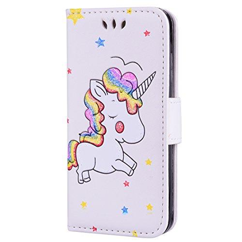 Custodia per Apple iPhone 5S/5/SE Cover Cavallo Libro Pelle PU Portafoglio - Girlyard Flip Wallet Leather e TPU Silicone…