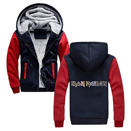 Unisex Iron Maiden Sudaderas Mantener el calor en invierno cubren la personalidad for hombre Ropa de abrigo con capucha impresos informal Uniforme de béisbol Iron Maiden Sudaderas con capucha
