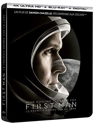 First Man - Le Premier Homme sur la Lune [4K Ultra HD + Blu-ray + Digital - Édition boîtier SteelBook]