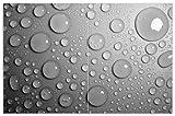 Wallario Herdabdeckplatte/Spritzschutz aus Glas, 2-teilig, 80x52cm, für Ceran- und Induktionsherde, Motiv Wassertropfen in schwarz weiß