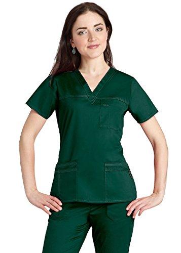 adar-pop-stretch-junior-fit-taskwear-scrub-top-3202-hunter-green-xxs