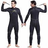 Warme Männer 5MM Dicker Neoprenanzug zum Speerfischen Schwarzer Fester Einteiler Taucheranzug Surfing Sailing Wet Suits