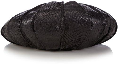 kaviar gauche Lamella Mini Python T111, Borsa a tracolla Donna Nero (Schwarz (black/gold)