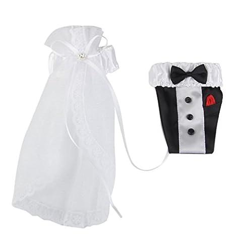 Wedding Bride Groom Glasses Champagne Flutes Cover Decoration Tuxdo Wedding Dress Pattern 2pcs