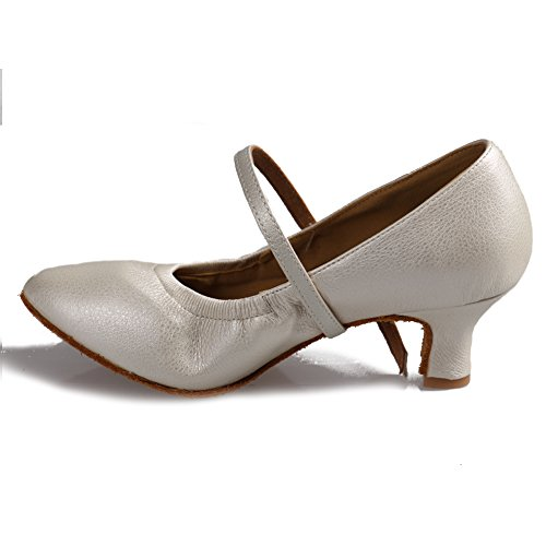 Hroyl donna scarpe da ballo scarpe da ballo in pelle di alta qualità per danza latina model-5003 bianco 37 eu