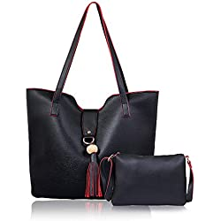 Shining Star Women's Handbag and Shoulder Bag with Sling Bag Combo ST-002B