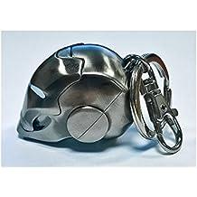 SeDi SMK002NB - Llavero metálico (1 unidad), diseño casco ...