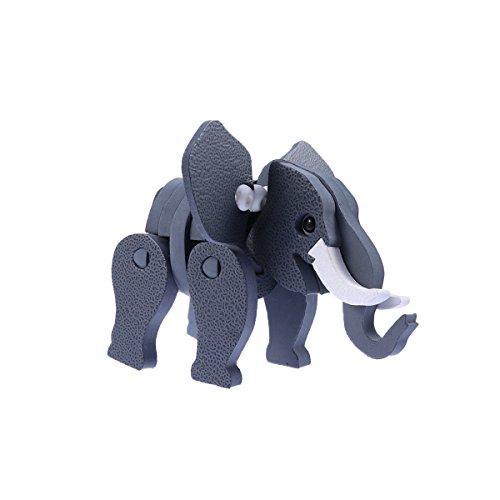 YeahiBaby Rompecabezas de Animales 3D Rompecabezas de Elefantes Rompecabezas 3D Modelo de...