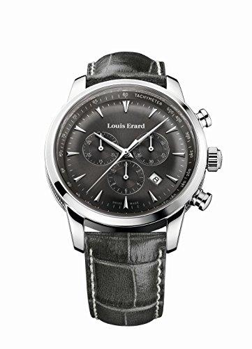 Louis Erard Heritage svizzero al quarzo quadrante grigio Orologio da uomo 13900AA03.bdc103