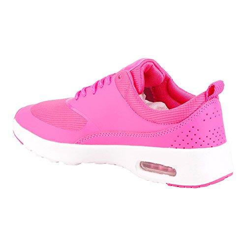 Damen Sneaker Sportschuhe Lauf Freizeit Runners Fitness Low Schuhe Pink