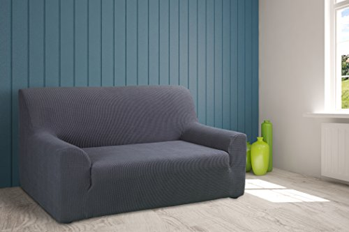 Tural – fodera per divano elasticizzato grigio 3 posti. copridivano elastico. disponibile in diversi colori e dimensioni