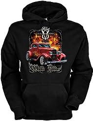 Wilder Ritt Baumwolle, Kapuzensweatshirt Wild ride cooles Design mit heißem Auto