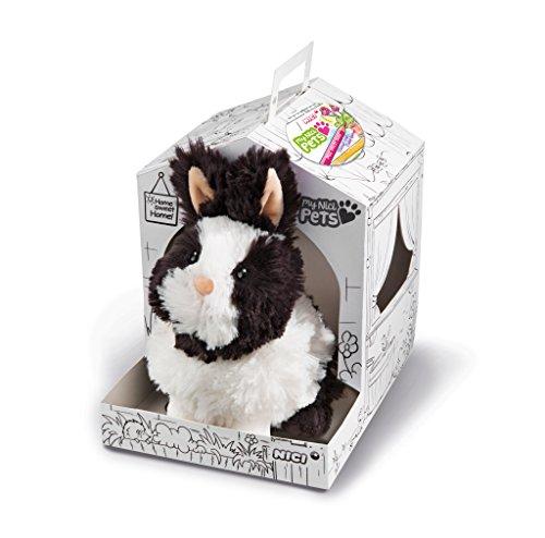 Nici 41565 Pets Kuscheltier Kaninchen, Farbe: schwarz/weiß, Größe: ca. 20 cm