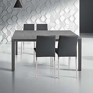 MilaniHome Tavolo da Pranzo Moderno di Design Allungabile Cm 80 X ...