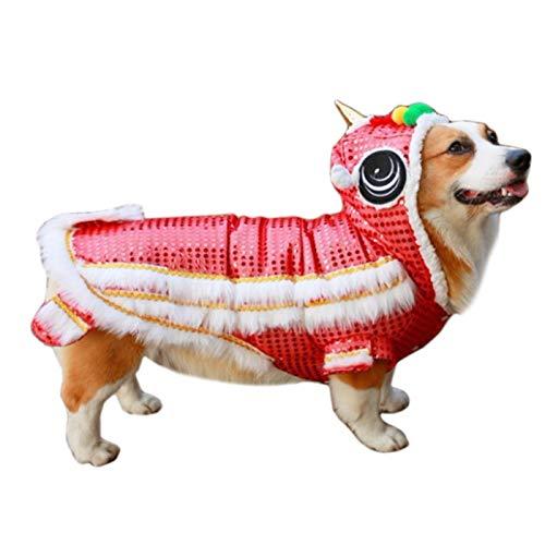 Alfie Pet by Petoga Couture Fellpflege-Leone Löwe Dance Kostüm-Farbe: Rot, Größe: Medium -