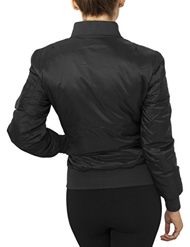 Urban Classics Damen Jacke Ladies Basic Bomber Jacket Schwarz (Black 7)