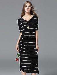 PU PU Attillato Fodero Vestito da Donna-per Uscire Casual Semplice Moda  Città Sofisticato A Strisce d5cf3dded8f