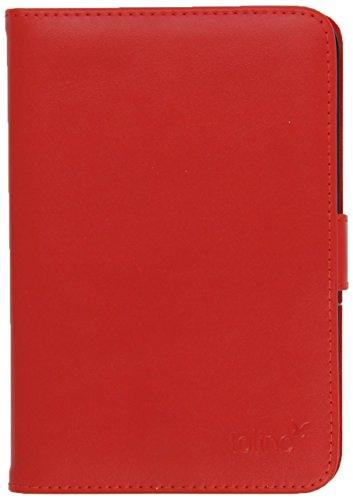 tolino page / shine Ledertasche im Buchformat Rot