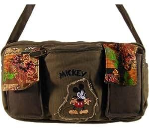 Disney Mickey Mouse, messenger sac à main en toile et vert ! Pour emmenr tant de choses n'importe ou !