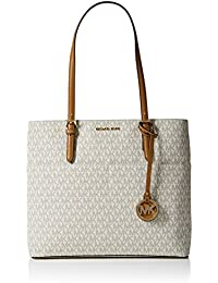 9397d161943f Michael Kors Women's Large Bedford Pocket Signature Tote Leather Shoulder  Bag