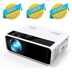 Mini Projecteur, ELEPHAS LED Videoprojecteur Portable Vidéo 1080P Supporté Rétroprojecteur HD Multimédia Cinéma Compatible HDMI/USB/Smartphone/Ordinateur,Idéal pour Les Films et Jeux Vidéo
